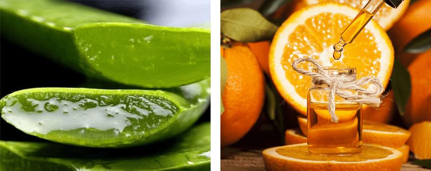 Гель алое з олією апельсину